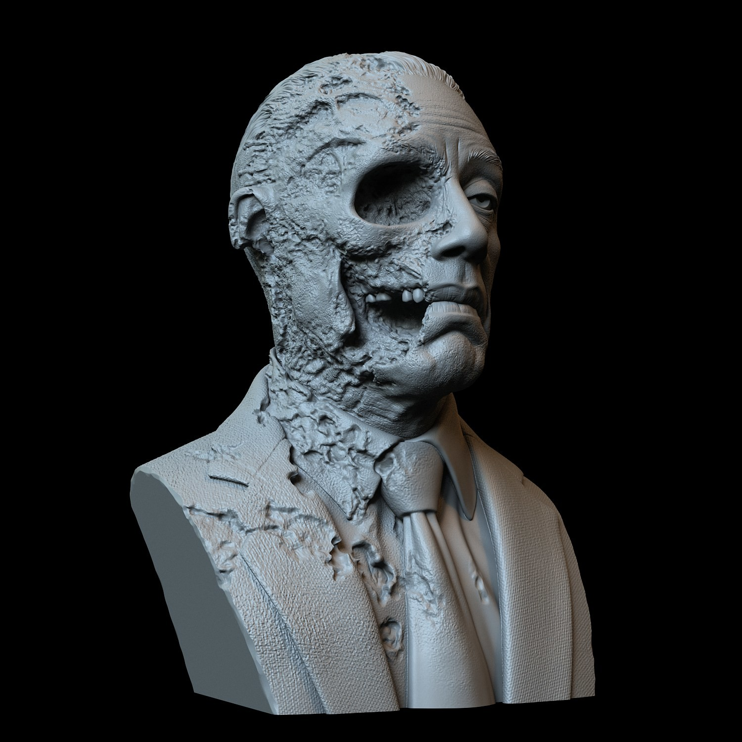 Artstation Gustavo Fring Face Off Version Giancarlo Esposito Breaking Bad 3d Printable Bust Artworks
