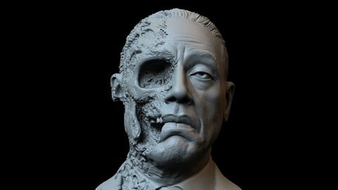 Gustavo Fring 'Face-Off' version - Giancarlo Esposito - Breaking Bad - 3d printable bust