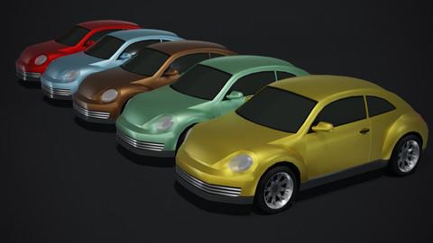 Compact Car Generic Lowpoly 3D Model
