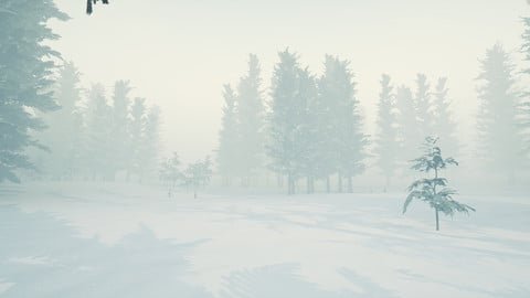 Winter Trees - Unreal Engine 4