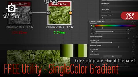 Single Color Gradient Node - Free Substance Designer Utility