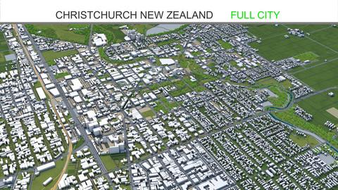 Christchurch City New Zealand 3D Model