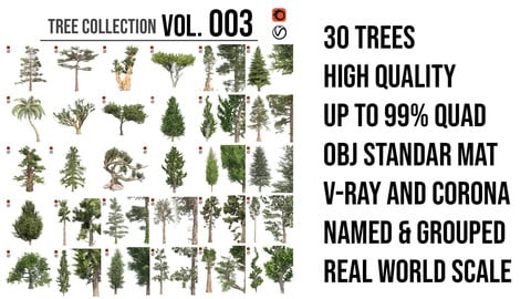 Tree Collection Vol 003 (30 Trees)