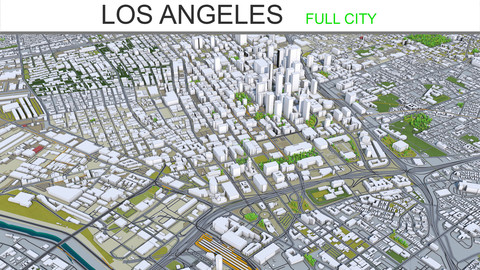 Los Angeles City 3D Model