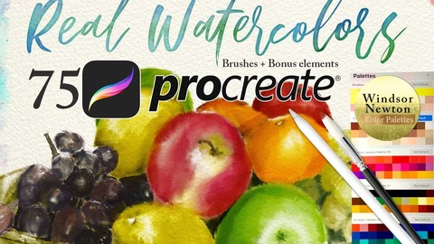 75 Procreate Watercolor Brush Bundle