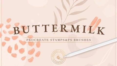 90 Procreate & PS Stamp Brushes