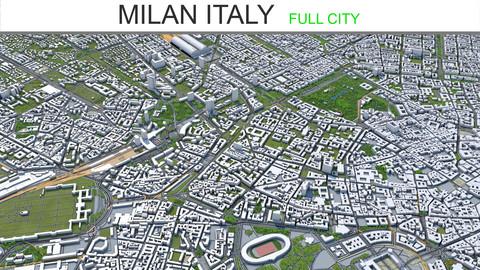 Milan City Italy 3D Model