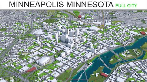 Minneapolis City Minnesota 3D Model