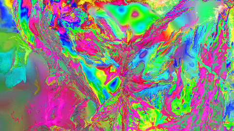 Figuration Cosmique Psychédélique_2020 _Digital painting