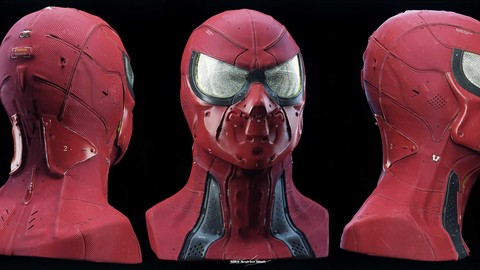 Sci-Fi Spider-Man Tutorial - Includes Free 3D Print Ready Model.