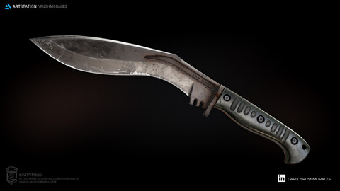 EMPIRE 3D Knife Kukri 5