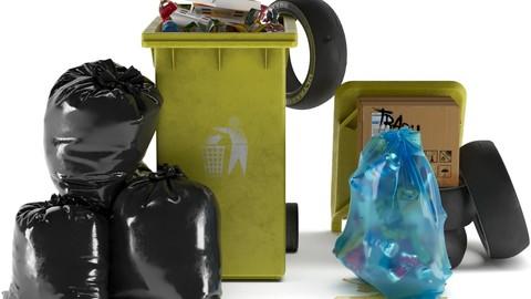 Garbage Bin 2 Set 3
