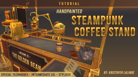 Tutorial: Handpainted Steampunk Coffee Stand
