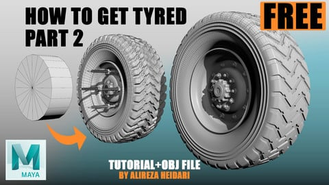 FREE Tutorial + OBJ - How to create a tire PART 2