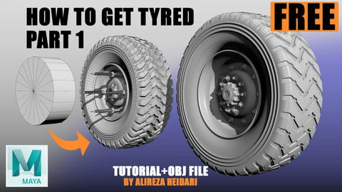 FREE Tutorial + OBJ - How to create a tire PART 1
