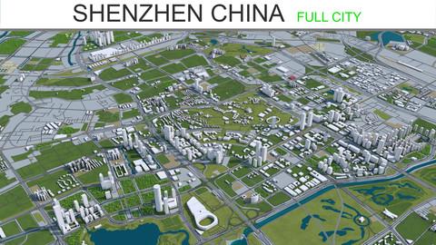 Shenzhen City China 3D Model