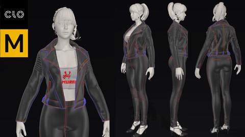 Women Black Leather Jacket Outfit marvelous desinger project