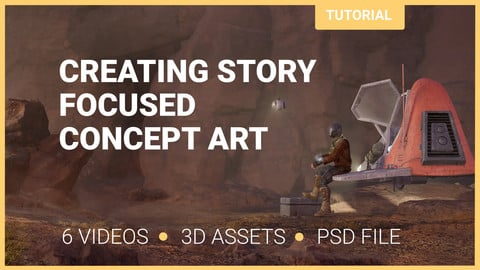 Creating story focused concept art tutorial