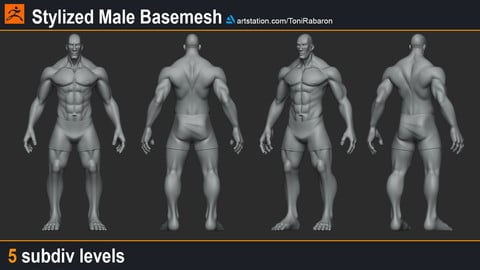 Stylized Male Basemesh
