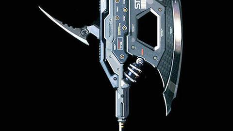 sci_fi axe (3d model)