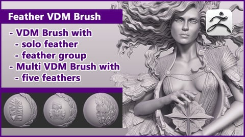 ZBrush Feathers Brush / VDM+Multi VDM