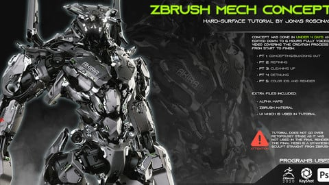 Zbrush Mech Concept - Tutorial