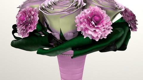 Bouquet of brides 3d model