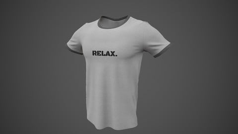 T-Shirt Male PBR Low-poly