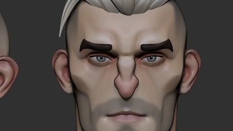 stylized head male