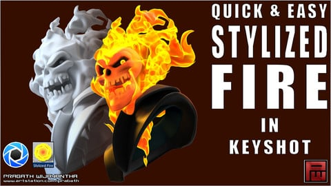 Keyshot- Stylized Fire