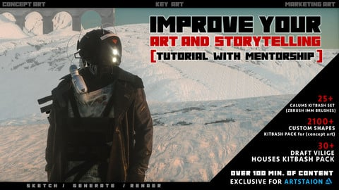 Improve your ART and Storytelling  (TUTORIAL WITH MENTORSHIP )