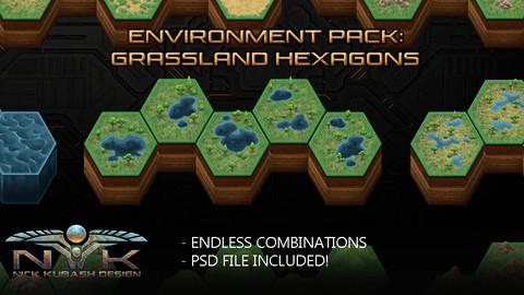 Environment Pack: Grassland Hexagons