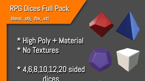 RPG Dices Blank Full Pack