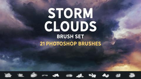 Storm clouds brush set