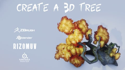 Create a Low-Poly 3D Tree - Full Process|Tutorial