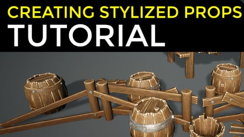 Creating stylized props tutorial (wood sculpting and texturing techniques)