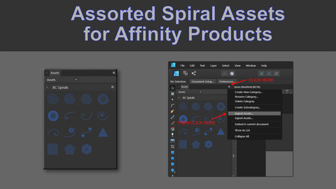 Spiral Assets for Affinity Software