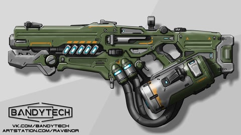 Energy weapon concept art