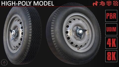 Dunlop R5 tire with Dunlop alloy rim/wheel