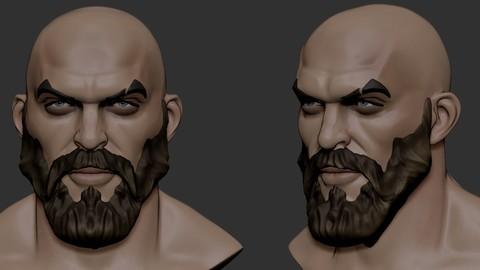 stylized head male5