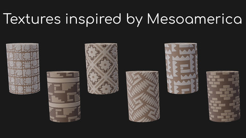 6 textures inspired by Mesoamerican culture.