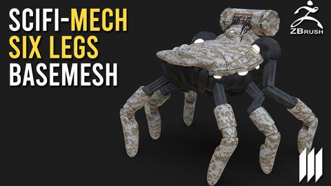 SciFi-Mech Magnet Pull No UV's - Ztool for Zbrush