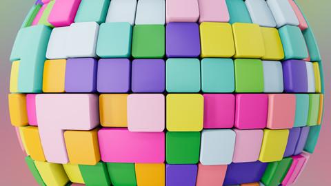 Procedural Tetris Patterned Wall