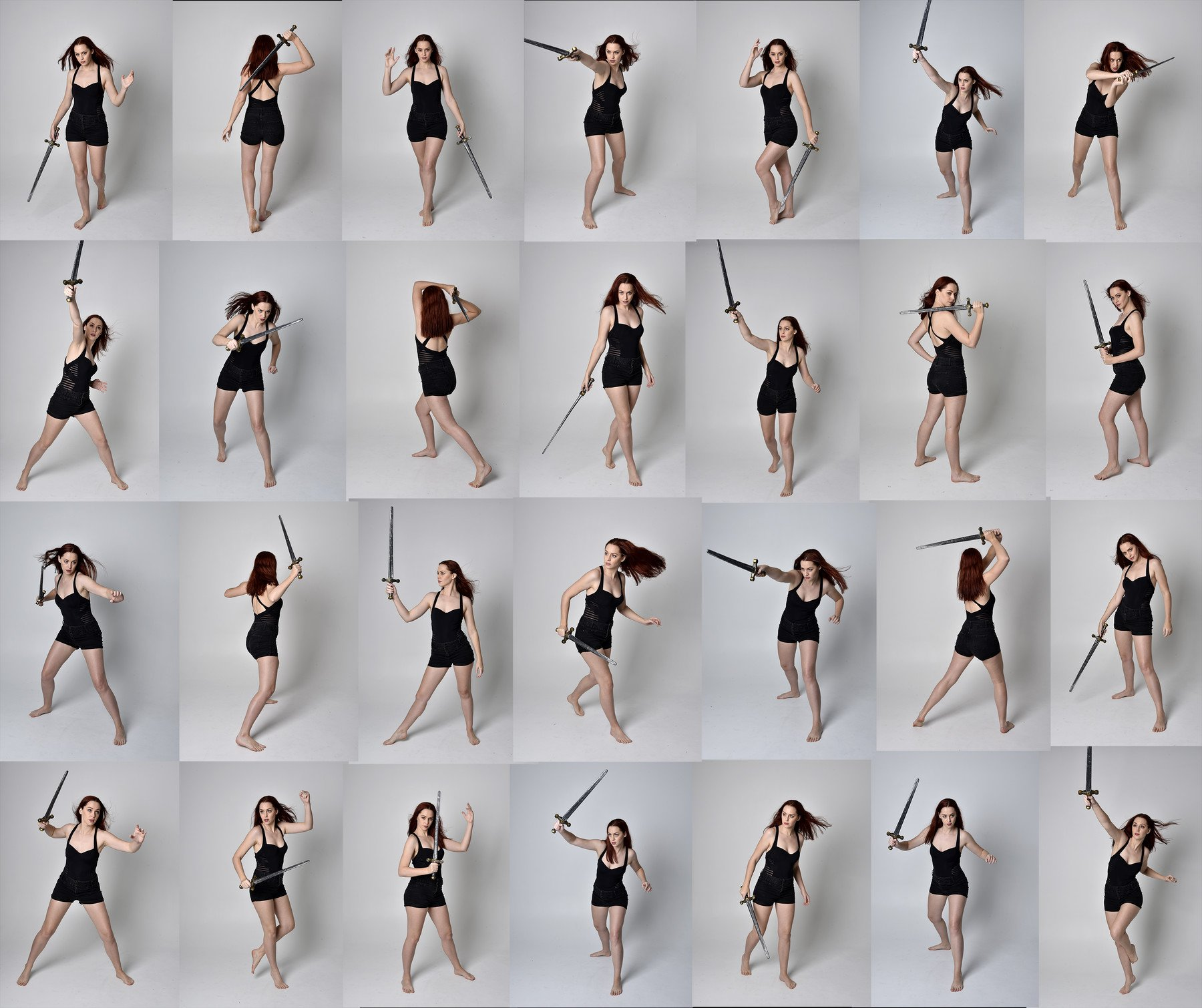 Artstation X148 Sword Fighting Pose Reference Pack Resources