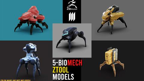 Bundle - 5-QuadLegs BioMech BaseMesh Pack No UV's - Ztool
