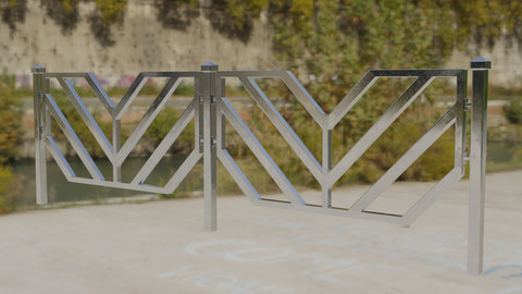 Architectural Steel Fence and Lattice 3D model