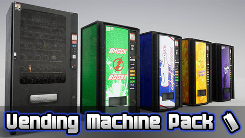 Vending Machines + Food & Drink - Prop Pack