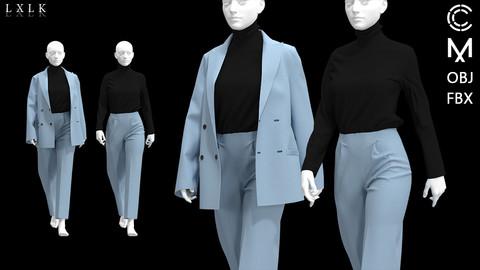Women's Colorful Suit(One Color)_2ver