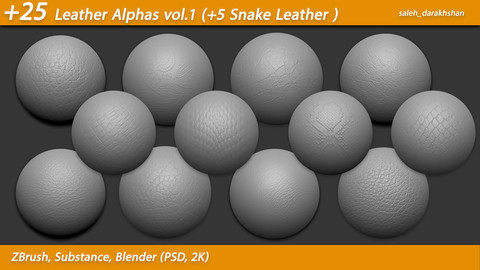 +25 Leather Alphas vol.1 (+5 Snake Leather ) ( 2k )