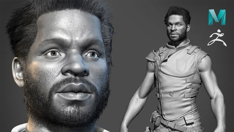Realistic Character Sculpting for Game In Maya and Zbrush